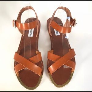 Steve Madden Bailey Sandals Brown Size 9.5